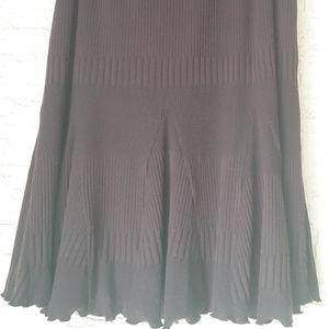 Chocolate Brown Flare Skirt